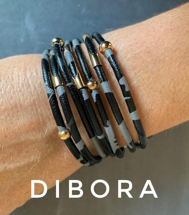 Leopard Print Magnetic Bracelets grey