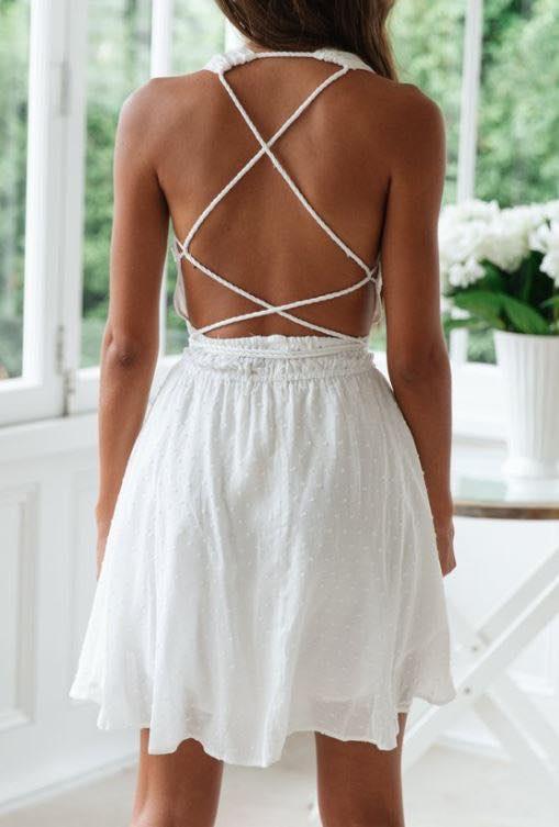 Cross Your Heart Dress back