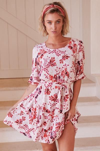 Arden Print Revival Mini Dress- Jaase