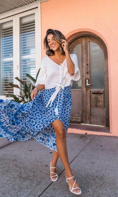 Indian Summer Boho Maxi Skirt