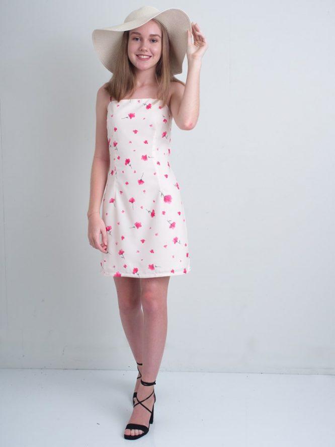 Dreamy Poppy Mini Dress - Luvalot Clothing