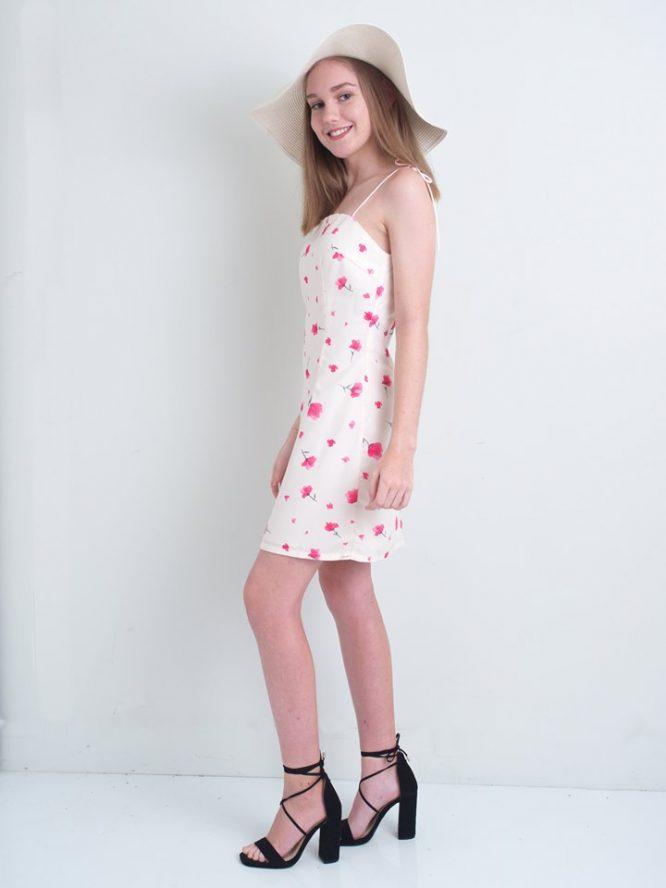 Dreamy Poppy Mini Dress - Luvalot Clothing side