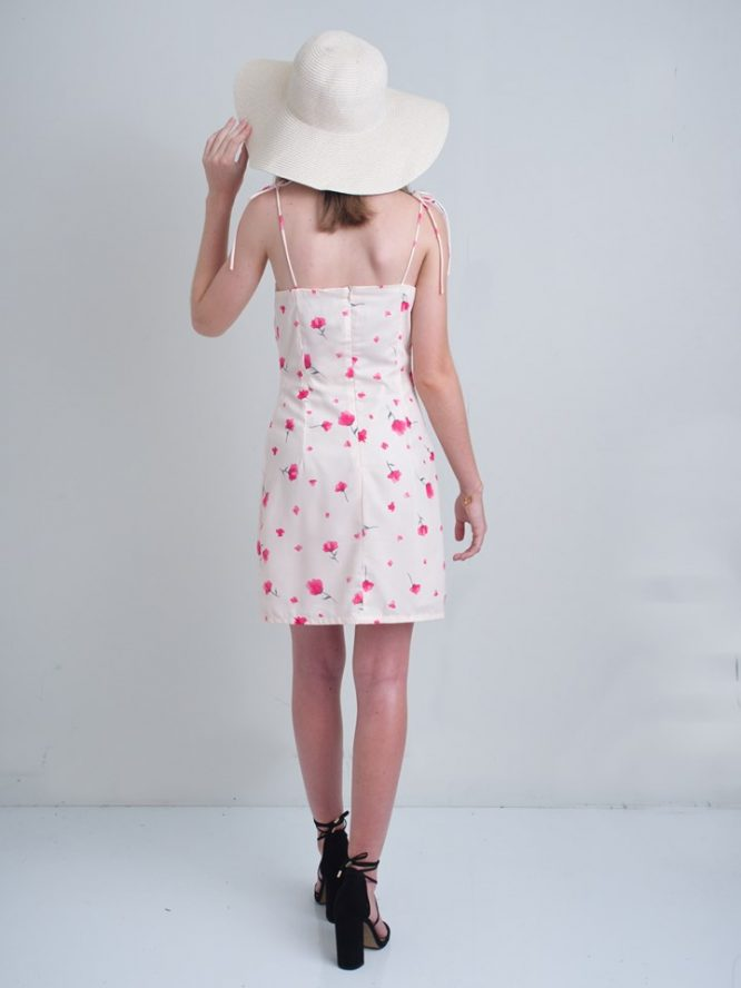 Dreamy Poppy Mini Dress - Luvalot Clothing back