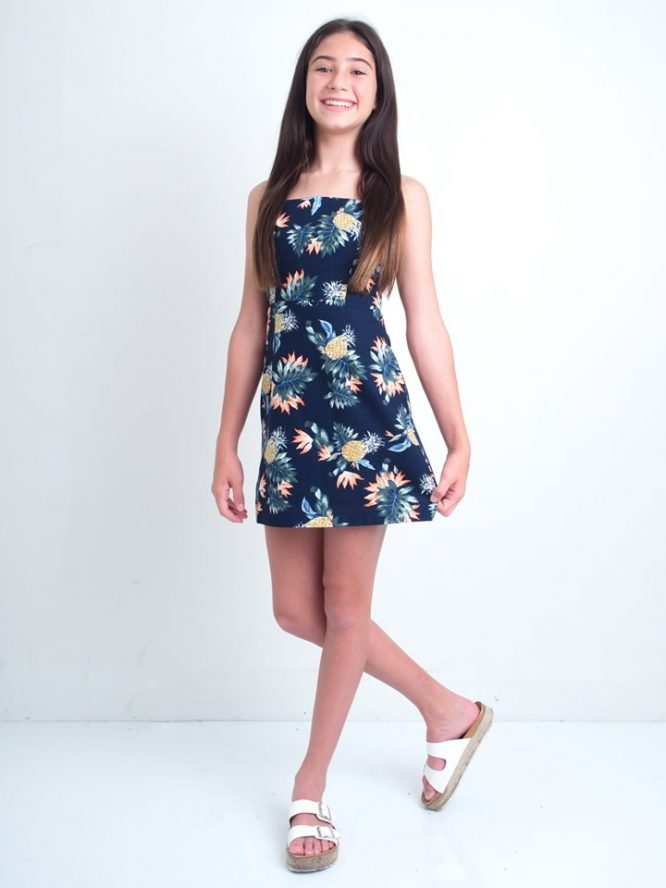 Pineapple Margarita Mini Dress front
