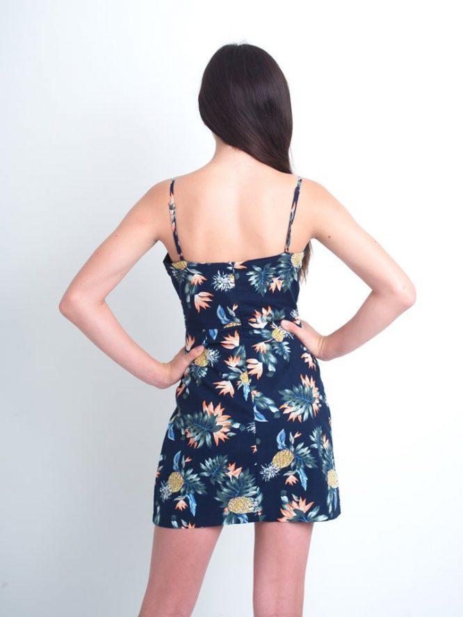 Pineapple Margarita Mini Dress back