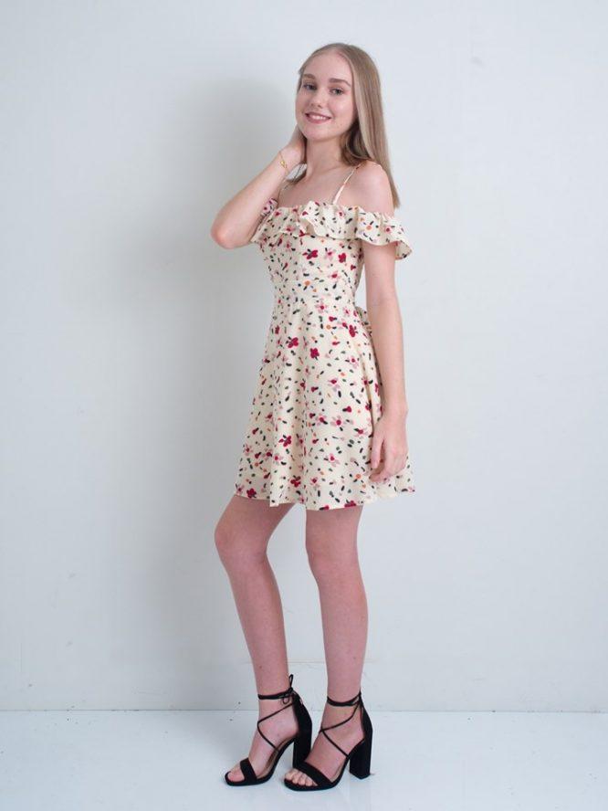 Mallory Beige Mini Dress - Luvalot 2