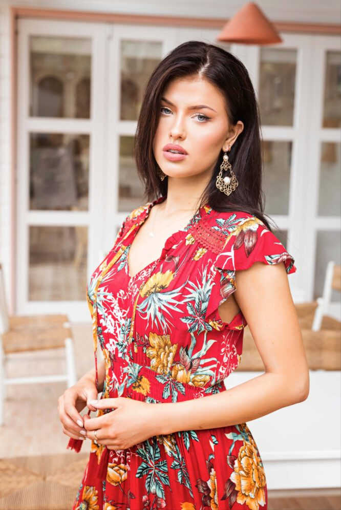 Espana Dress Red Floral
