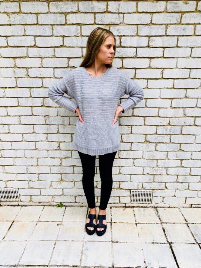 Sasha Knit Grey- Trilogi
