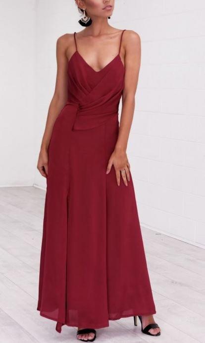 Seville Burgundy Maxi Dress - Angel Biba 2