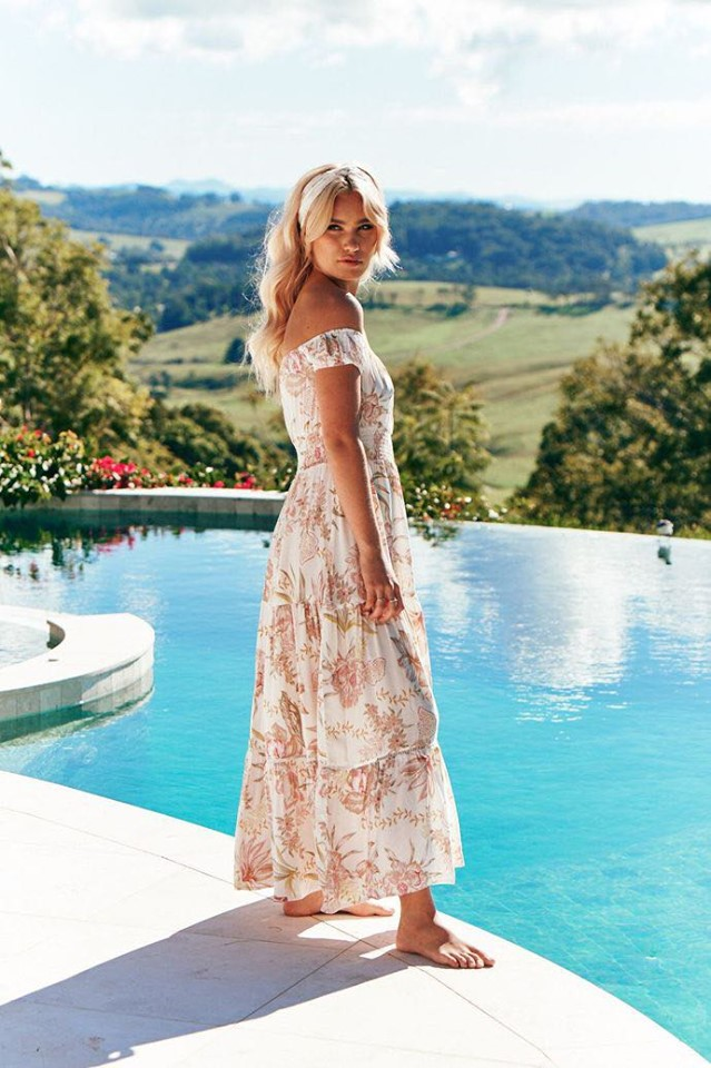 Sidney Print Halluana Dress side