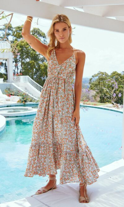 Avril Print Reef Maxi Dress - Jaase