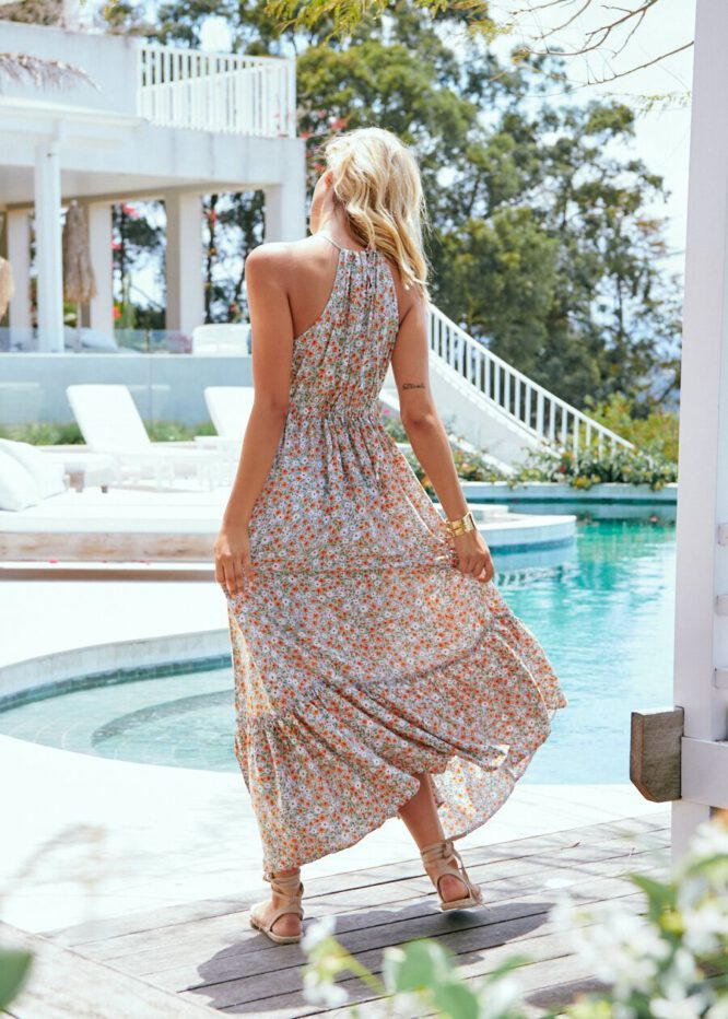 Avril Print Reef Maxi Dress - Jaase 3