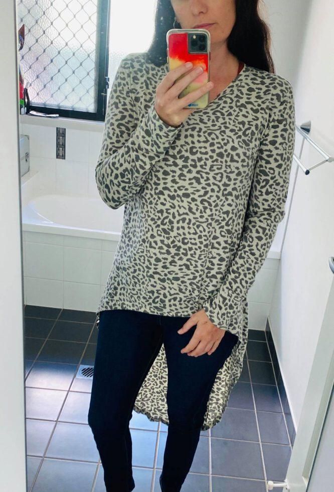 Leopard Lover long Tee - Refuge Denim