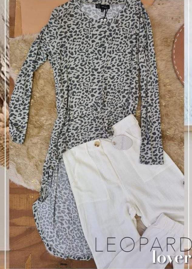Leopard Lover long Tee - Refuge Denim 1