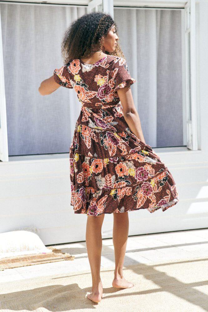 Vance Print Jocelyn Midi Dress - Jaase
