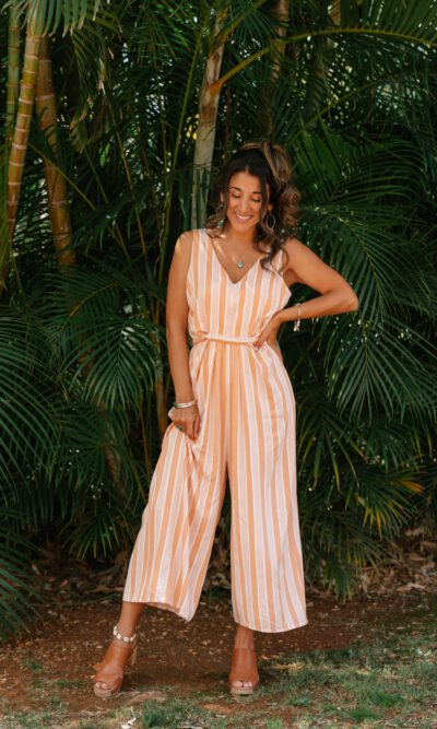 Tulum Jumpsuit Peach - San Jose The Label