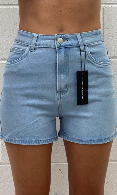 Mamma Mia High Waist Denim Short