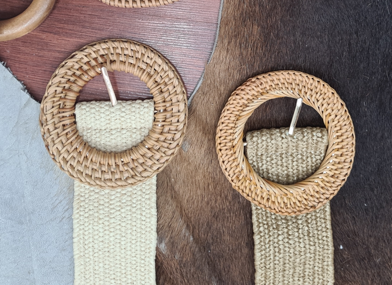 Rattan Circle Belt - 2 Colours