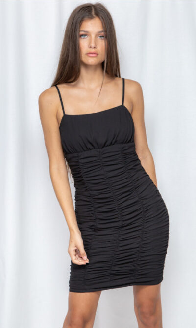 All Or Nothing Black Dress - Winnie & Co