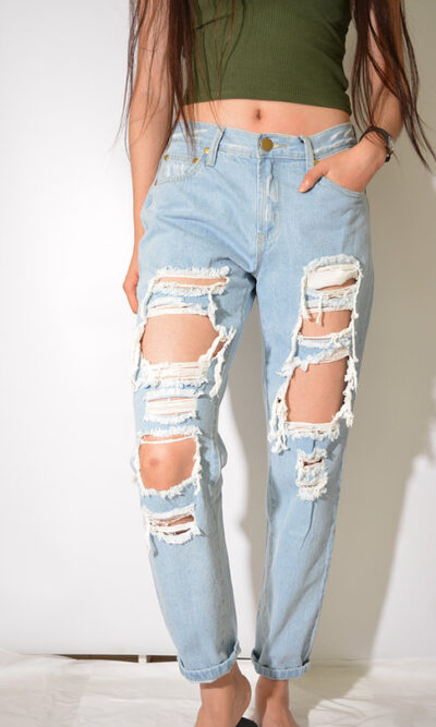 Orion Destroyed Boyfriend Jean - Wakee Denim