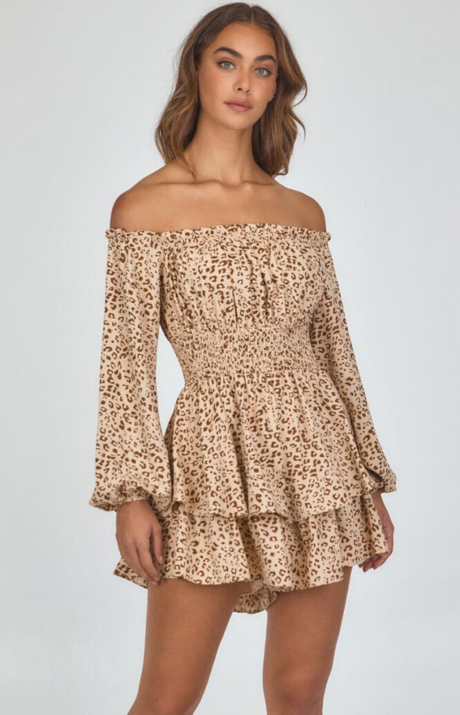 Adelaide Leopard Print Playsuit - Style State