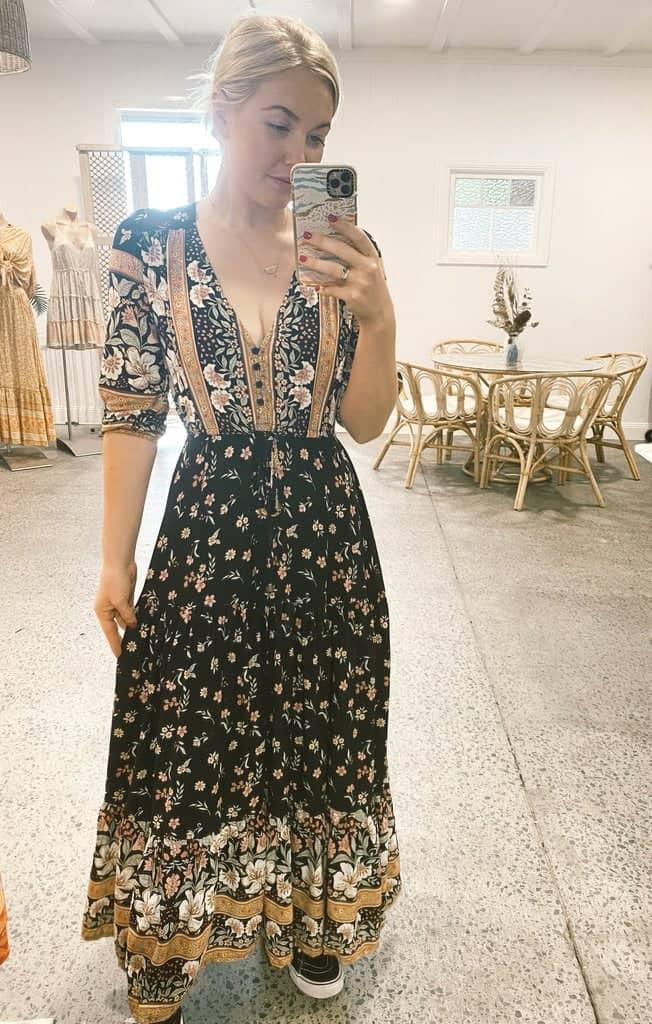 Eternity Print Tessa Maxi Dress - Jaase