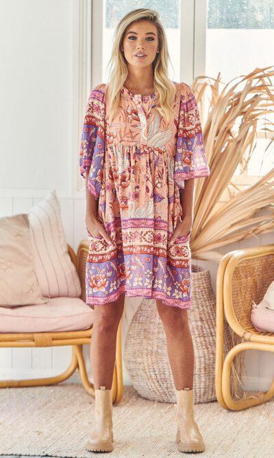 Princess Swan Jemima Mini Dress - Jaase