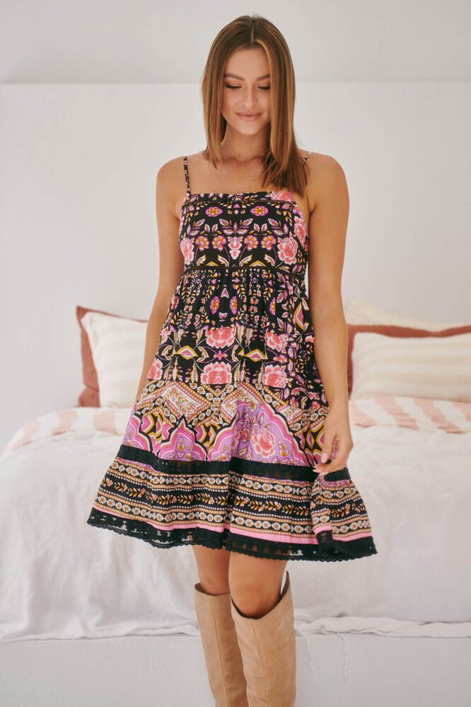 Jaase Rena Mini Dress - Cherry Blossom