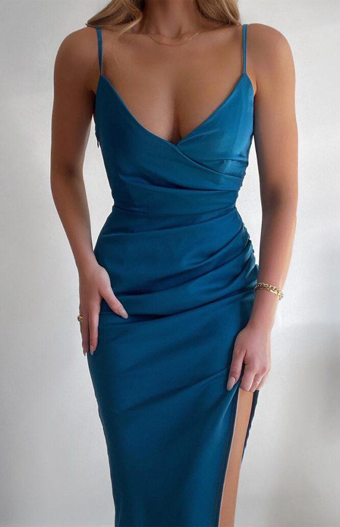 Spencer Satin Midi Dress - Style State
