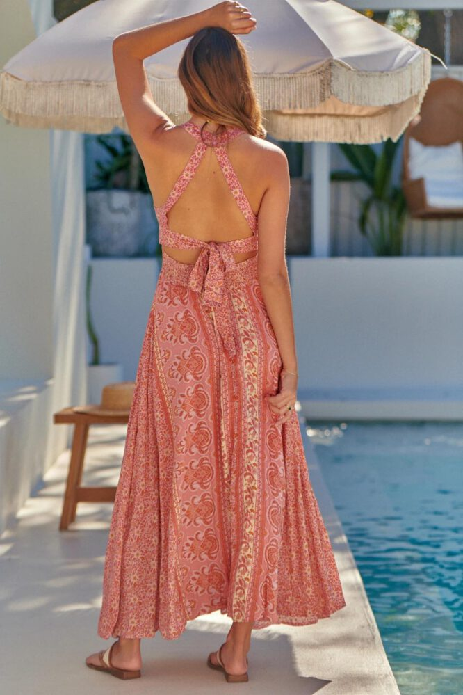 Strawberry and Cream Endless Summer Maxi - Jaase