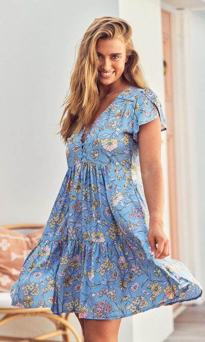 Jaase Poppies Print Tracey Dress